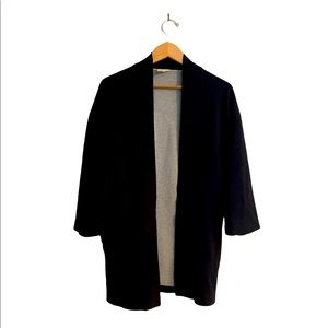 WILFRED FREE LONG CARDIGAN BLACK AND GRAY